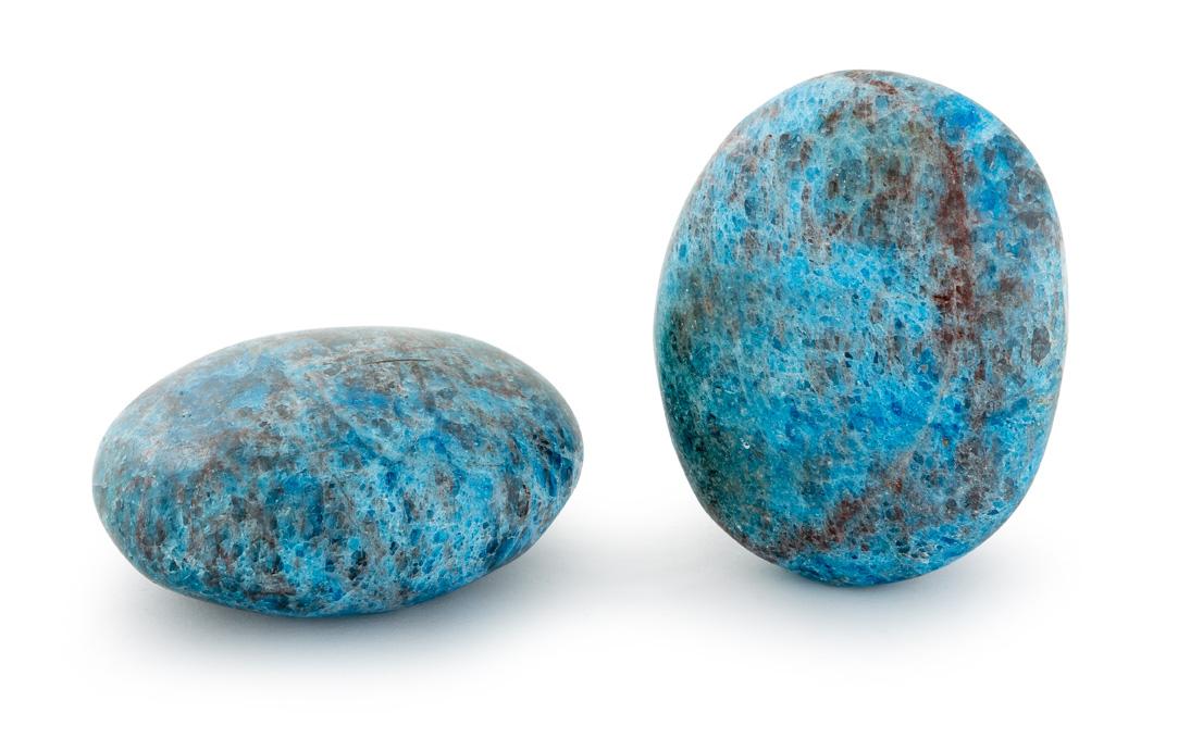 galet d'apatite bleue